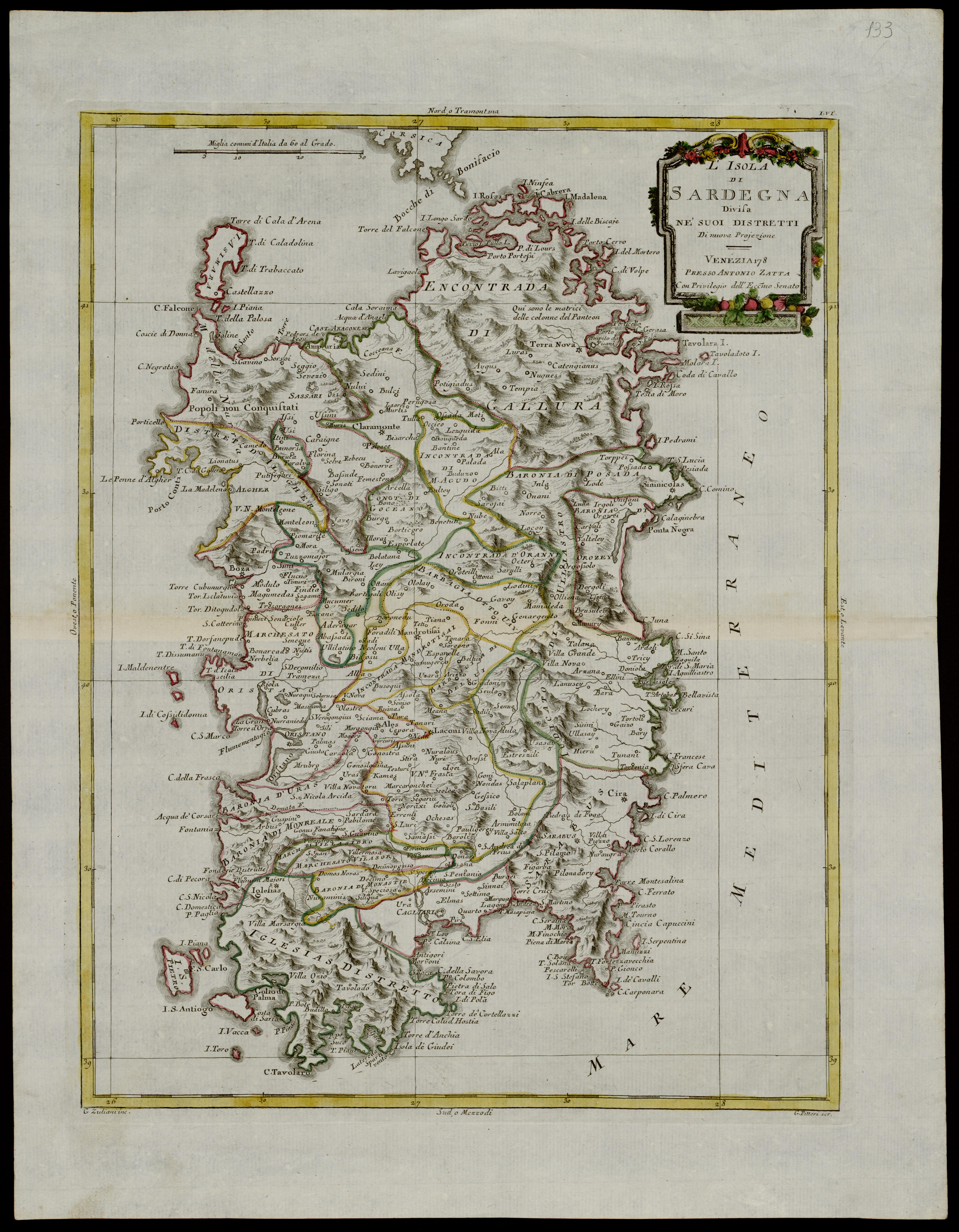 Cartina Antica Sardegna.Sinnos Tracce Di Memoria A Cargeghe La Piu Antica Testimonianza Scritta Del Nome Di Cargeghe In Una Mappa Cartografica Del 1753