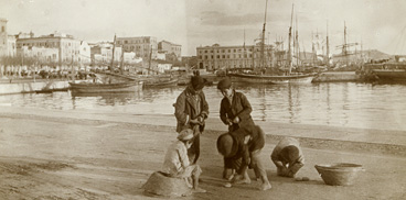 Casteddu in una foto leada dae M. L. Wagner a primìtzios de su '900