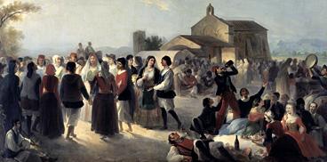 Giovanni Marghinotti, Festa sarda in su sartu, 1861