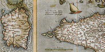 Particolare di una carta del XVI secolo
