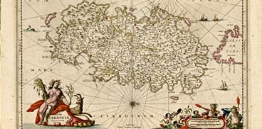 La Sardegna in una carta del XVII secolo