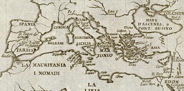 Sas colònias fenitzas in una carta de su de XVIII sèculos