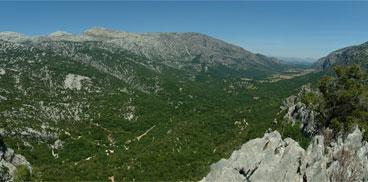 Ulìana, panorama Lanaitu bidu dae Tìscali